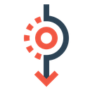 Down Direction Path Icon