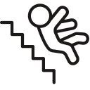 Down Falling Stairs Icon
