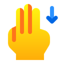 Down With Finger Icon