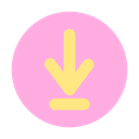 Down Direction Sign Icon