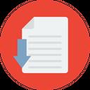 File Download File Data Copy Icon