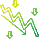 Downtrend Chart Down Icon