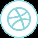 Dribbble Social Logos Icon