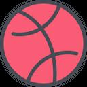 Dribbble Dribbble Logo Social Media Icon