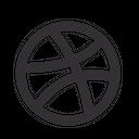 Dribbble Graphics Design Icon