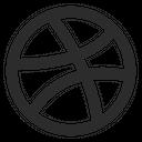 Dribbble Social Media Logo Icon