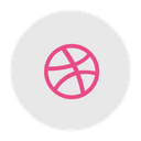 Dribbble Social Media Design Icon