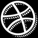 Dribbble Social Portfolio Icon