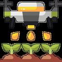Drone Farming Icon
