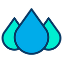 Droplets Drops Rain Icon