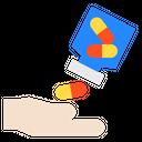 Hand Drugs Medicine Icon