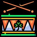 Drum Drumsticks St Patricks Day Icon
