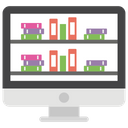 E Library Elearning Online Learning Icon