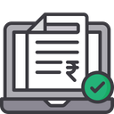 Online Tax Payment Tax Receipt Bill Icon