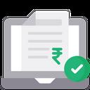 Online Tax Payment Tax Receipt Bill Icon