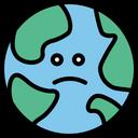 Earth World Unhappy Icon