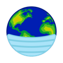 Earth Covid 19 Virus Icon