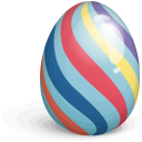 Easter Egg Striped Icon