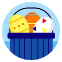 Easter Egg Eggs Icon