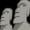Easter Island Polynesian Triangle Pacific Ocean Icon
