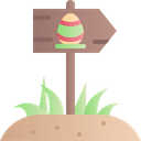 Easter Sign Sign Egg Icon