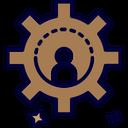 Edit Profile Custom Cogwheel Icon