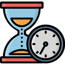 Egg Timer Hourglass Processing Time Icon