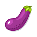 Eggplant Green Food Icon