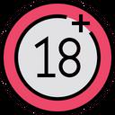 Eighteen Plus Plus Adult Icon