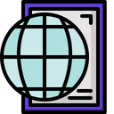 Elearning Global Learning Geography Icon