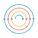 Electromagnetic Wave Force Icon