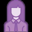 Employee Worker Woman Icon