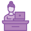 Employee Desk Table Icon