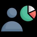 Employee Data Employee Graph Employee Performance Icon