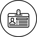 Employee Id Card Icon