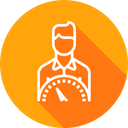 Employee Performance Indicator Icon