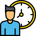 Employee working hour Icon