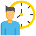 Employee Working Hour Working Hour Time Limit Icon