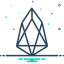 Eos Coin Cryptocurrency Icon