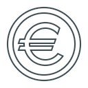 Euro Currency Coin Icon