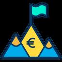 Euro Achivement Achievement Goal Icon