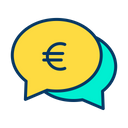 Euro Chat Bubble Icon