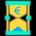 Euro Time Money Timer Icon