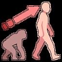 Evolutionay Biology Human Icon