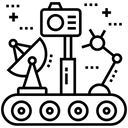 Excavator Crane Construction Icon
