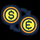 Money Changer Euro Icon