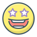 Emoji Excited Stars Icon