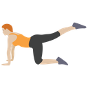 Plank Exercise Aerobics Stretch Muscle Icon