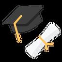 Graduate College University Icon