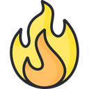 Explosive Fire Flame Icon